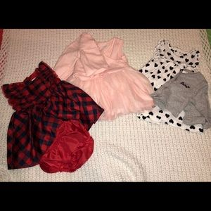 Other - 3 baby girl dresses and 2 sweaters